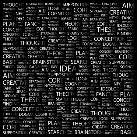 IDEA. Word collage on black background.  illustration.    Stock Vector - 7356097