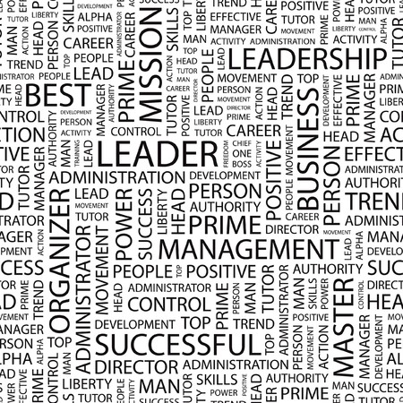 transactional: LEADER. pattern with word cloud.