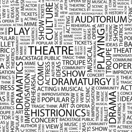theatrics: THEATRE.   Illustration