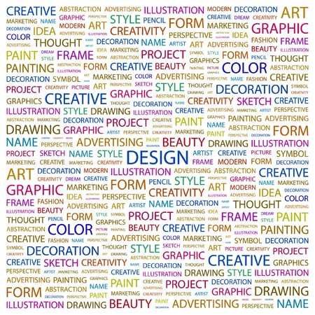 DESIGN. Word collage on white background. Vector illustration. Stock Vector - 7363882