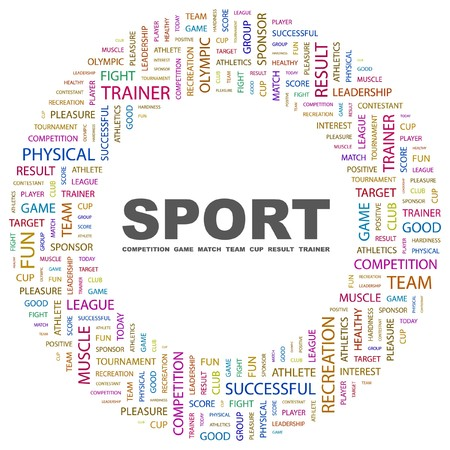 SPORT. Word collage on white background. Vector illustration.    Stock Vector - 7363554