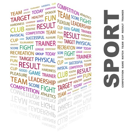 SPORT. Word collage on white background. Vector illustration.    Vector