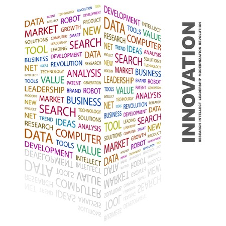 INNOVATION. Word collage on white background. Vector illustration. Stock Vector - 7363584