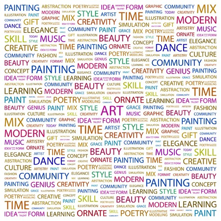 ART. Word collage on white background. Vector illustration.    Vector