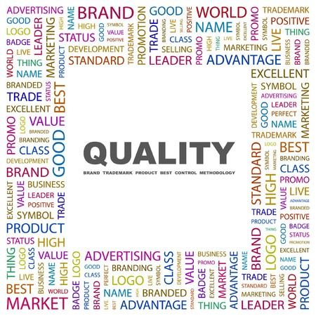 QUALITY. Word collage on white background. Vector illustration. Stock Vector - 7371480