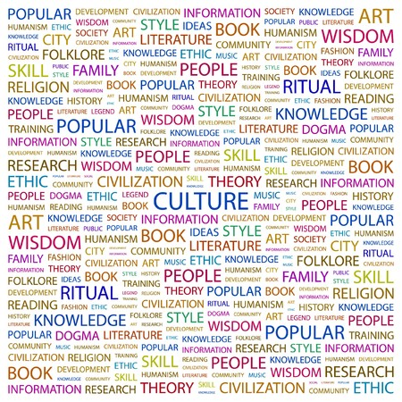 CULTURE. Word collage on white background. Vector illustration.    Vector