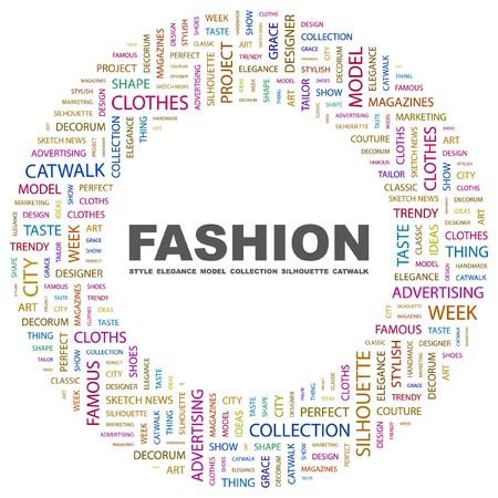 FASHION. Word collage on white background. Vector illustration.    Illustration