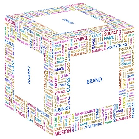 BRAND. Word collage on white background. Vector illustration. Stock Vector - 7371815