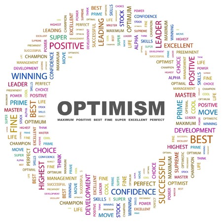 OPTIMISM. Word collage on white background. Vector illustration. Stock Vector - 7371568