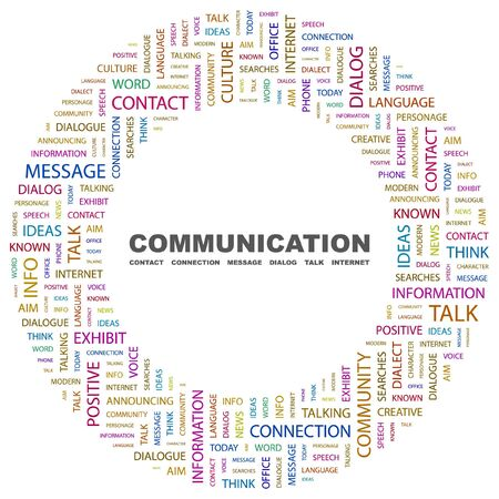 COMMUNICATION. Word collage on white background. Vector illustration. Stock Vector - 7371554