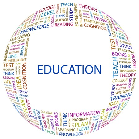 EDUCATION. Word collage on white background. Vector illustration.    Stock Vector - 7371599