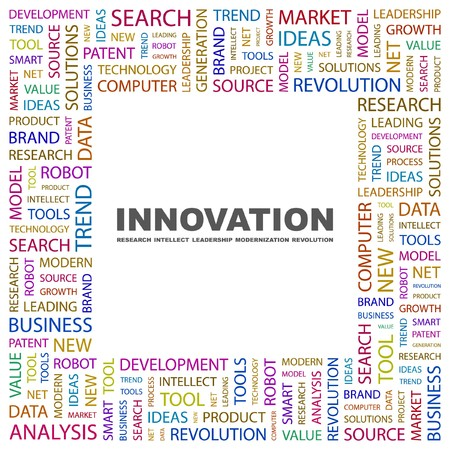 INNOVATION. Word collage on white background. Vector illustration.    Stock Vector - 7371501