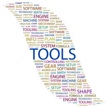 TOOLS. Word collage on white background. Vector illustration.    Stock Vector - 7371427