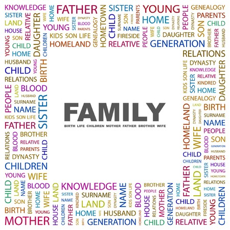 FAMILY. Word collage on white background. Vector illustration.    Stock Vector - 7371429