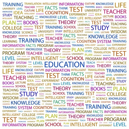 EDUCATION. Word collage on white background. Vector illustration.    Vector