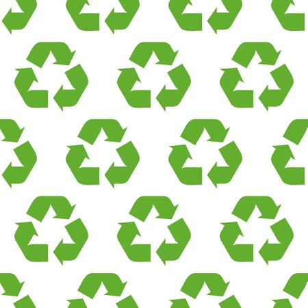 Seamless recycle background Stock Vector - 7383437