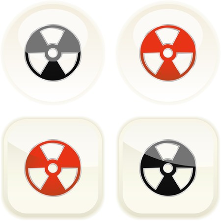 the precaution: Alert button. Vector set.
