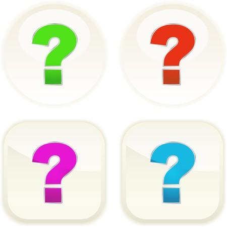 Question vector button set. Vector