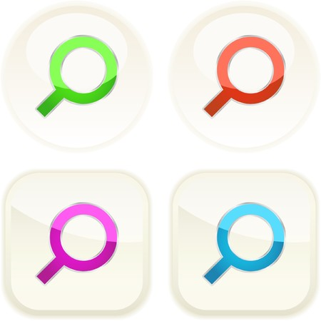 magnification icon: Vector search icon. Vector set.