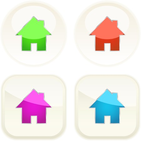 Home icons. Vector collection. Stock Vector - 7371425