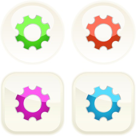 Gear buttons for web. Stock Vector - 7371455
