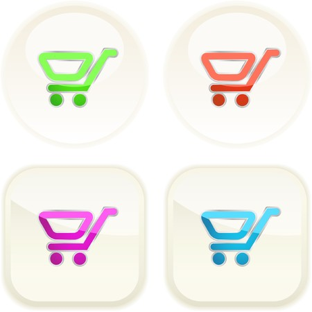 Shopping cart. Vector button. Stock Vector - 7371861