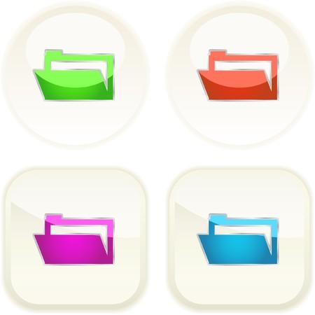 Folder buttons. Vector set.   Vector