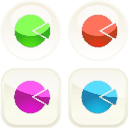 Diagram button set for web.   Vector