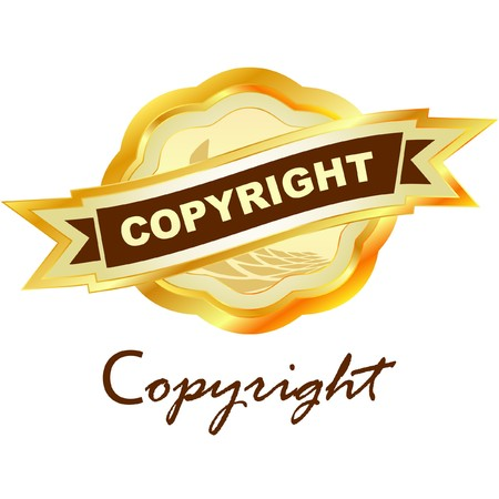 guaranty: Vector copyright label for sale.   Illustration