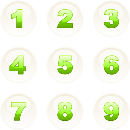 Number icons. Vector set.    Vector
