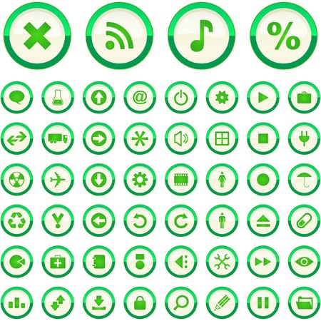 Vector icon set Stock Vector - 7371871