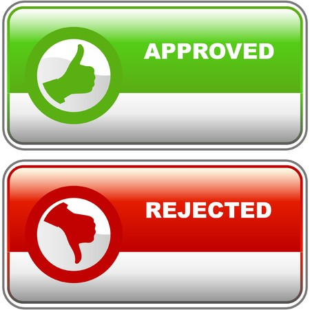 Approved and rejected icons. Stock Vector - 7371858