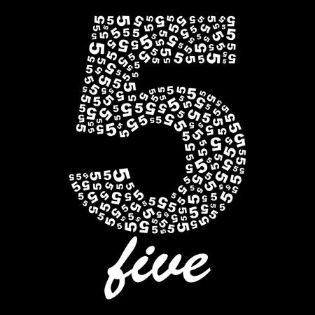 rekensommen: Vijf