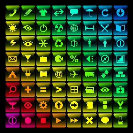 beautiful icon set Stock Vector - 7482254