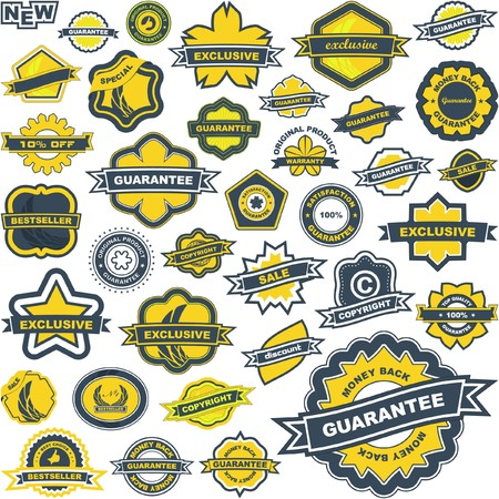 Collection of sale labels    Stock Vector - 7493452