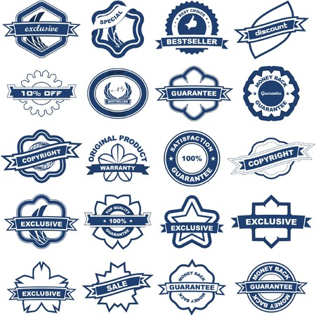 Set of design elements for sale. Stock Vector - 7482275