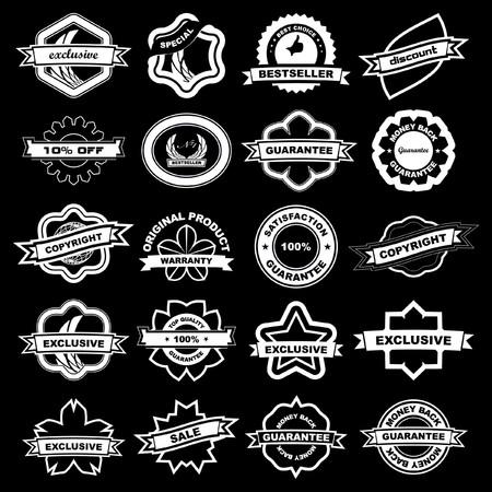 originales: Gran colecci�n de signos de venta  Vectores