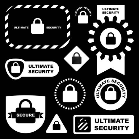 Padlock sign set.  Stock Vector - 7482202