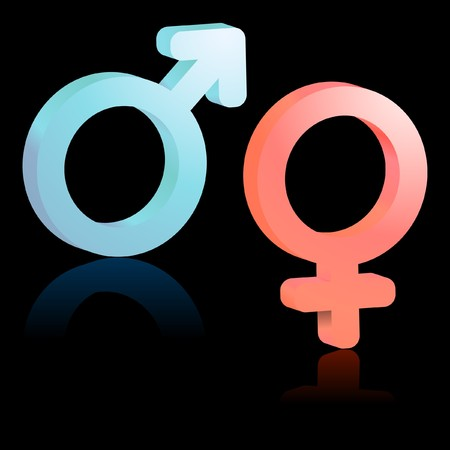 Male and female symbol. Stock Vector - 7493365