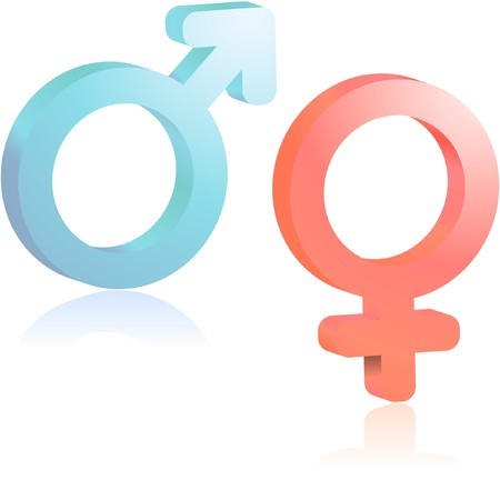Male and female symbol. Stock Vector - 7482320