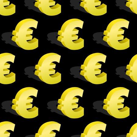 euro teken: Naadloze patroon met het euro symbool.