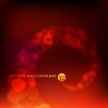 illustration. Abstract background. Bright lights on black.    Vector