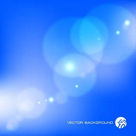 illustration. Blue abstract light background.    Vector