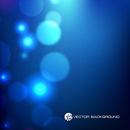 ilustración. Fondo azul de luz abstracta.