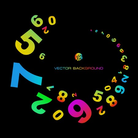 six web website: Abstract background with numbers signs.  EPS10 Illustration