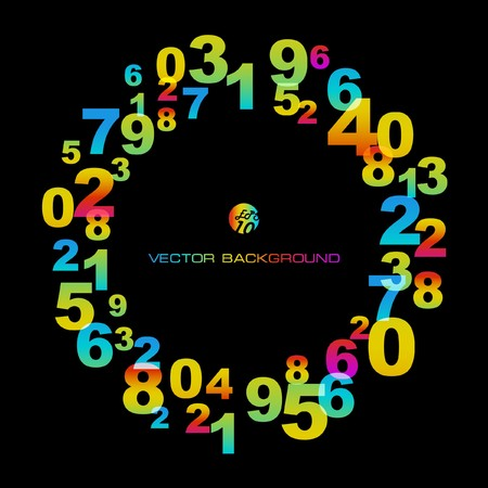 Abstract background with numbers signs.  EPS10 Stock Vector - 7522552