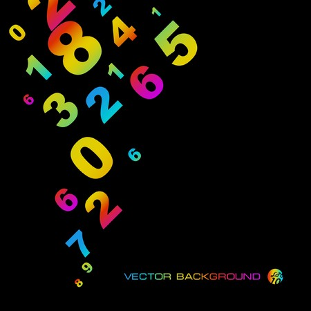 Abstract background with numbers signs.  EPS10 Stock Vector - 7522525