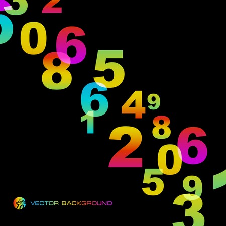 Abstract background with numbers signs.  EPS10 Vector