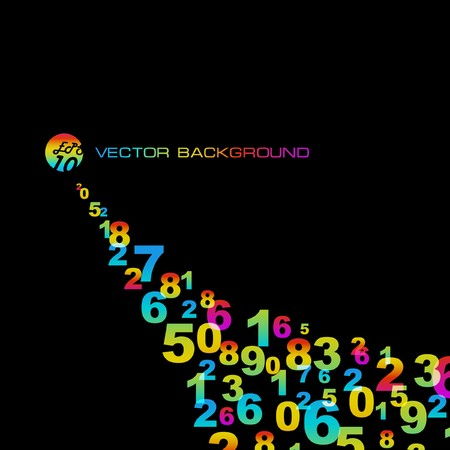 Abstract background with numbers signs.  EPS10 Stock Vector - 7522553