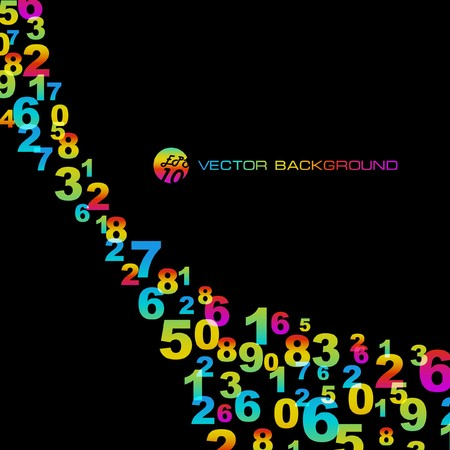 Contexte abstrait avec des signes de nombres.   Vecteurs